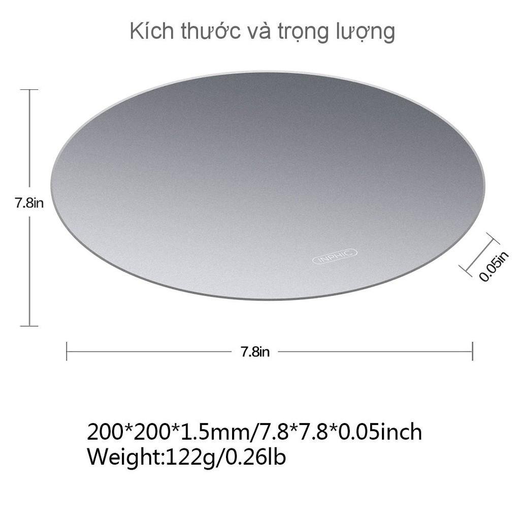 Đế lót chuột chất liệu kim loại tốc độ đặc biệt cao INPHIC LC_Rmetal PD22 dùng cho tất cả các loại chuột - Chính Hãng