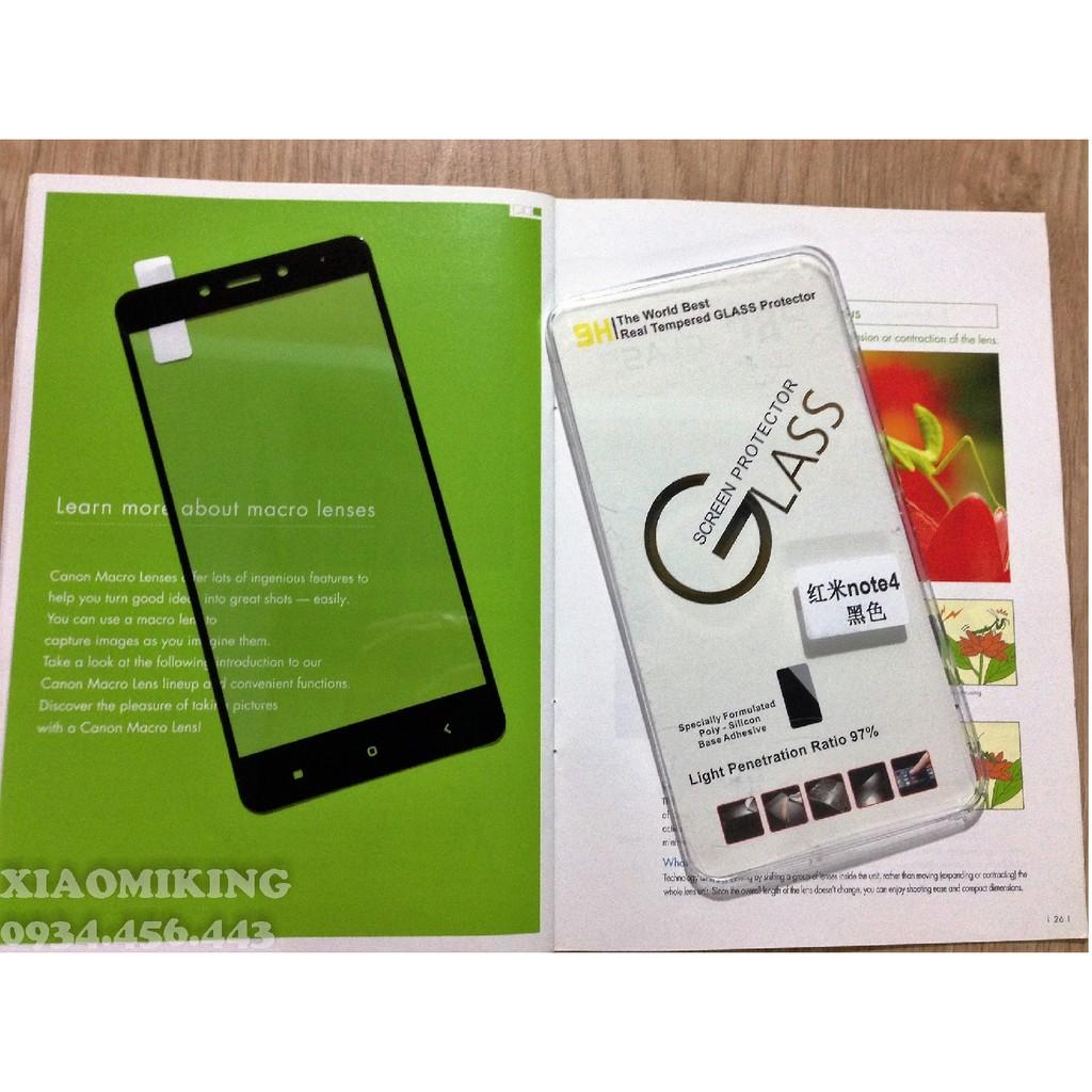 Xiaomi Redmi Note 4 Cường lực màu Full Màn Hình