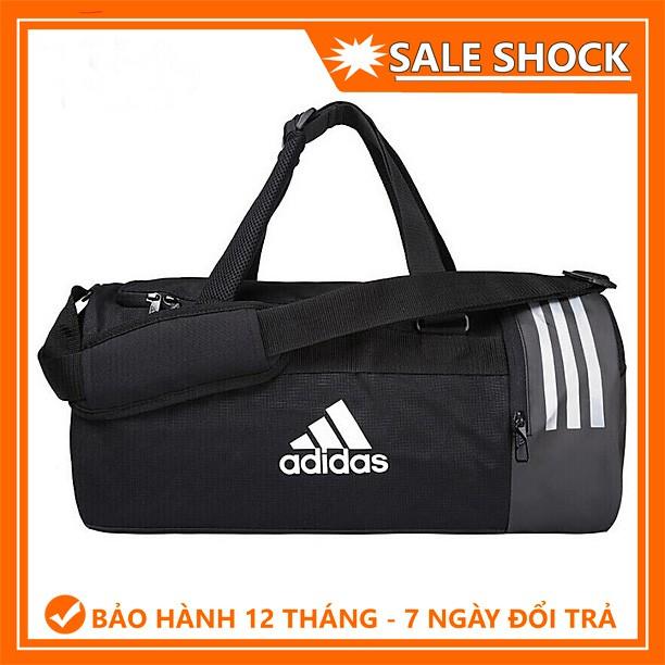 Túi thể thao [ HÀNG XUẤT XỊN ] Túi Thể Thao Convertible 3-Stripes Duffel Bag Small - Chất vải CHỐNG NƯỚC cực tốt