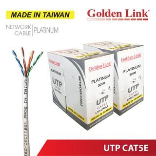 [Mã 267ELSALE hoàn 7% đơn 300K] Thùng cuộn 305M cáp mạng Golden Link UTP Cat5e (Cam, Trắng) thumbnail