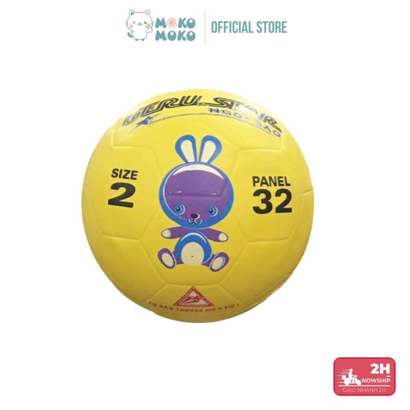 Bóng Đá Cao Su Size 2 Hình Thú Cho Bé Từ 1-6 Tuổi - [Tặng kim bơm & Lưới đựng bóng]-Giao màu ngẫu nhiên