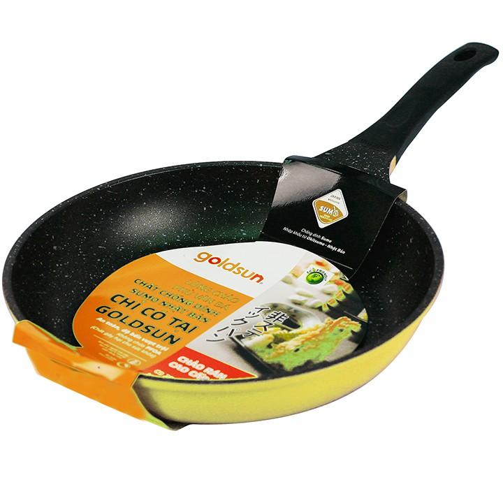 Chảo chống dính bếp từ 26-28cm Sumo Nhật Bản GOLDSUN dùng cho tất cả các loại bếp