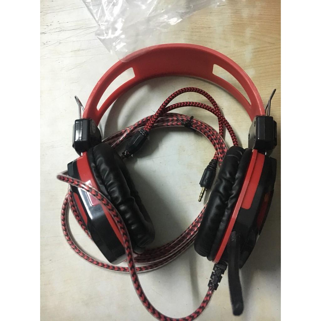 Tai nghe máy tính Qinlian A6 Đen đỏ
