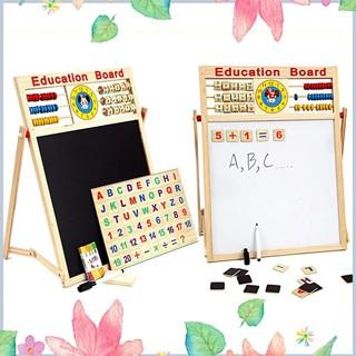 Giá Sập Sàn- Bảng gỗ nam châm giáo dục 2 mặt cho bé viết vẽ, học số, học chữ cái -Loại 1