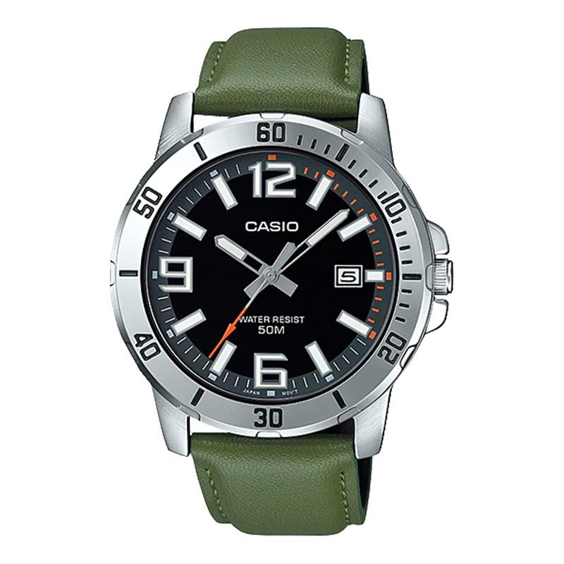 Đồng hồ nam dây da Casio MTP-VD01L-3BVUDF chính hãng