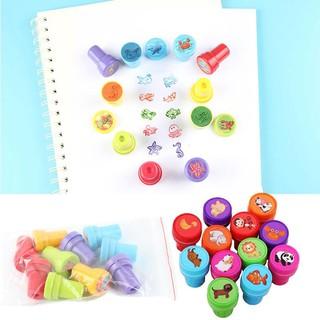10Pcs/Set Stamps Kids Children Toys Animals Fruit Recognition Training New