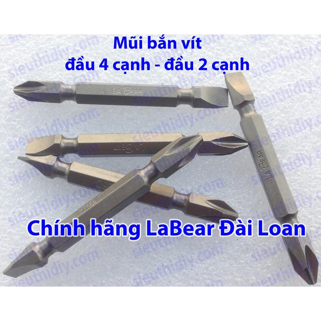 Mũi bắn vít chính hãng LaBear Đài Loan 1 đầu 4 cạnh - 1 đầu 2 cạnh - 10025141 , 665238503 , 322_665238503 , 40000 , Mui-ban-vit-chinh-hang-LaBear-Dai-Loan-1-dau-4-canh-1-dau-2-canh-322_665238503 , shopee.vn , Mũi bắn vít chính hãng LaBear Đài Loan 1 đầu 4 cạnh - 1 đầu 2 cạnh