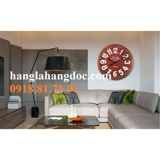 Đồng hồ gỗ treo tường phong cách cổ điển châu Âu cỡ đại (60cm đường kính) - Vintage Retro Wall Clock
