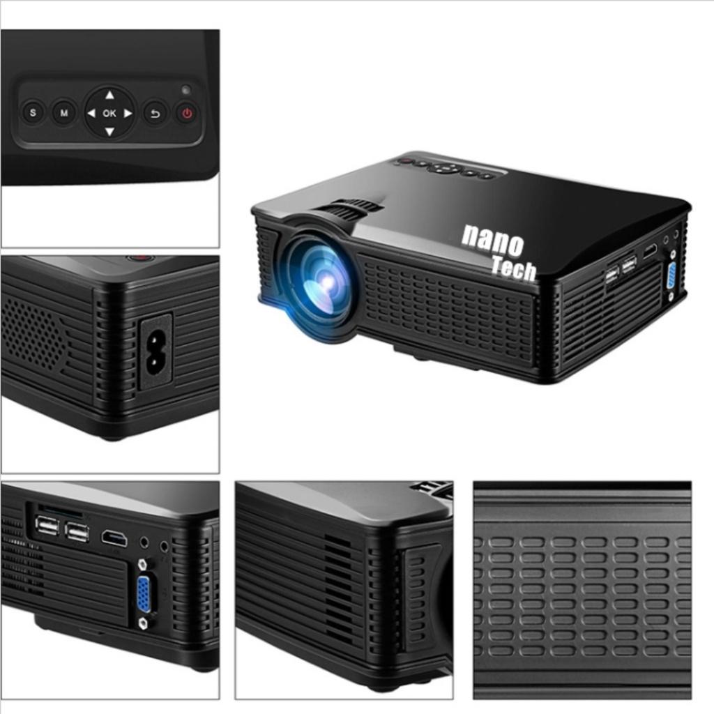 TV Security Nanotech โปรเจคเตอร์ 2016 ใหม่ล่าสุด Best of Mini LED 1500 Lumens SD50 PLUS - สีดำV Security Nanotech โปรเจค