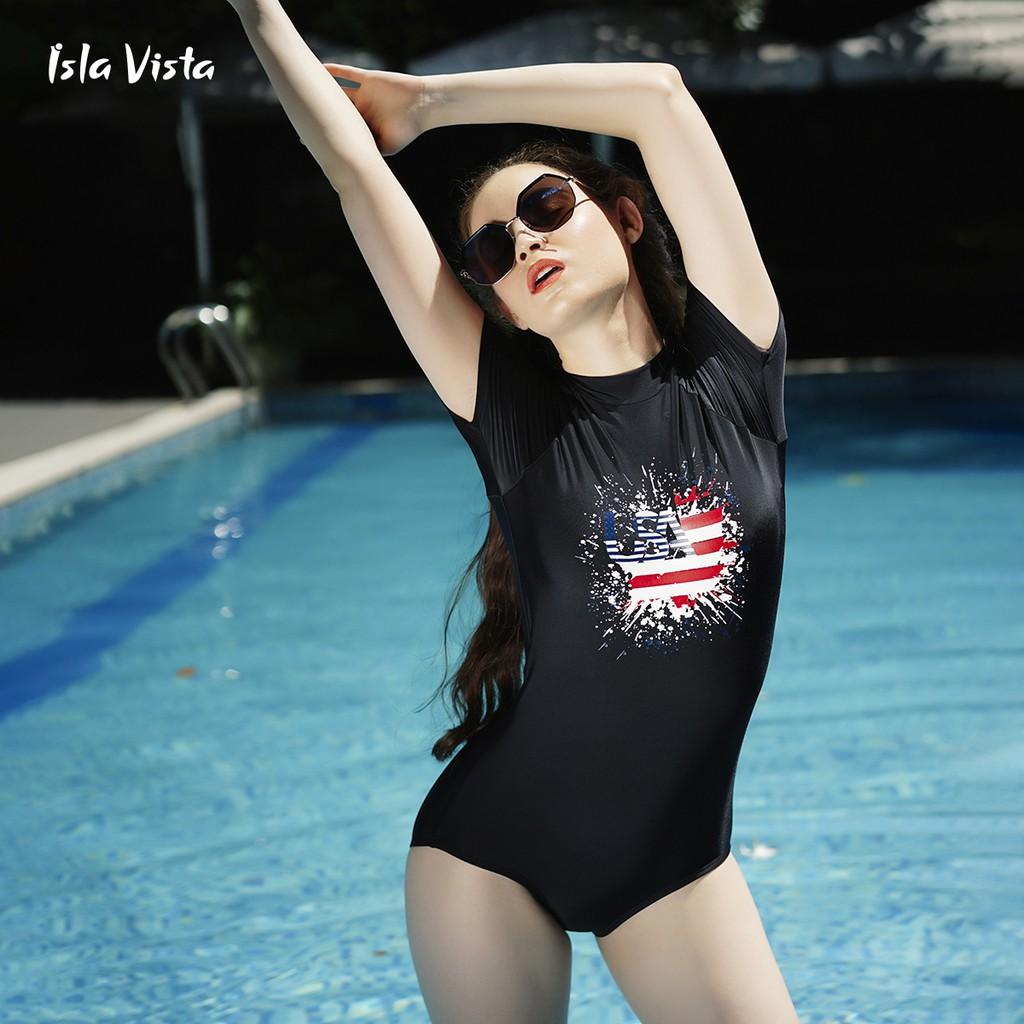 [Mã WABR44H giảm 15% đơn 599K] Đồ bơi monokini tay ngắn Isla Vista IVWM006