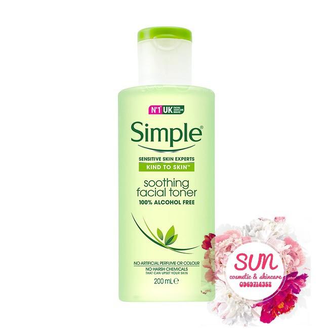 Nước hoa hồng Simple Kind To Skin Soothing Facial Toner [MẪU MỚI]