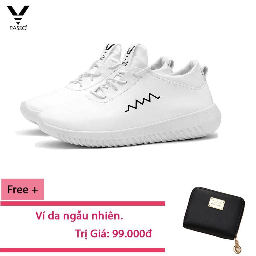 (FREE SHIP) Giày Thê Thao Hàn Quốc PASSO GSP022 + Free Ví KOREA 2018