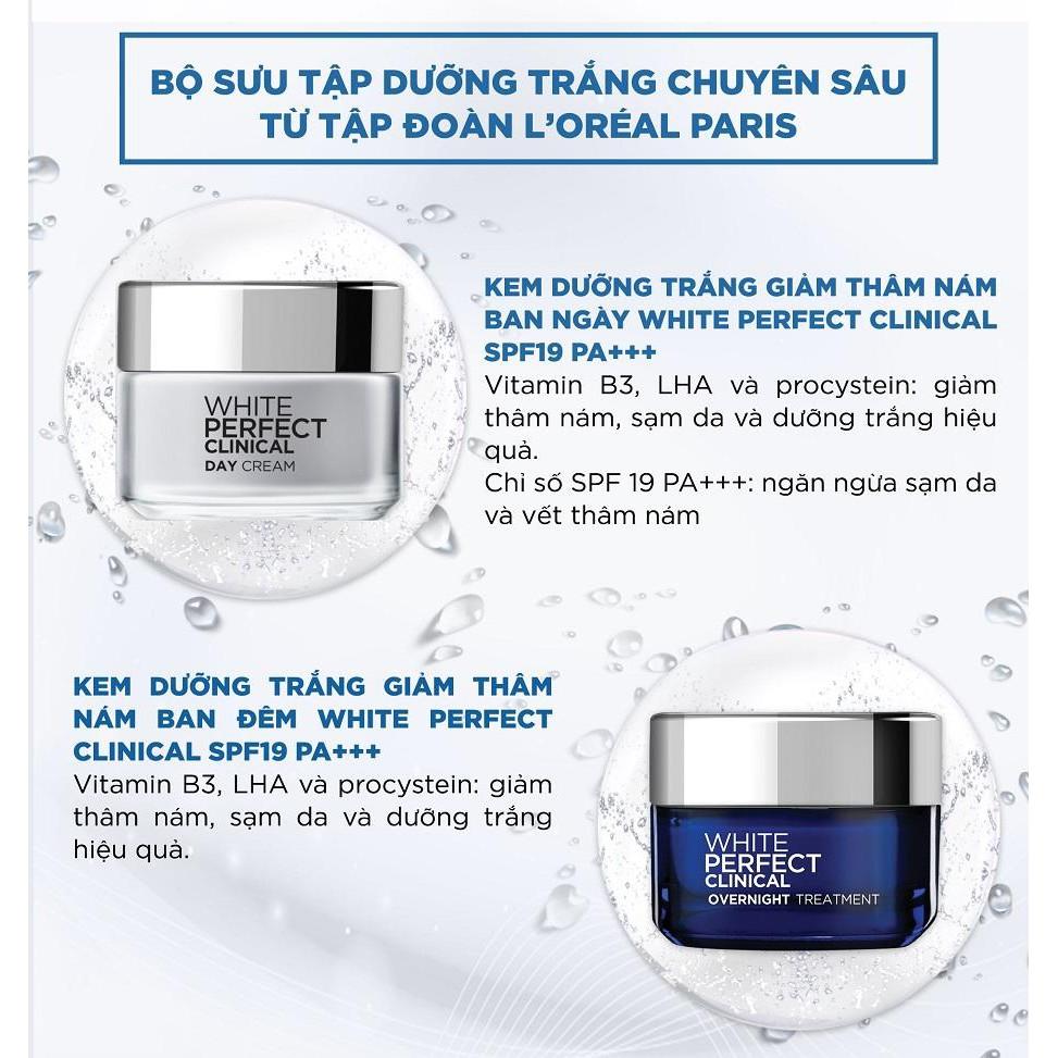 Kem Dưỡng Sáng Da, Hỗ Trợ Giảm Thâm Nám L'Oreal White Perfect Clinical 50ml  | Shopee Việt Nam
