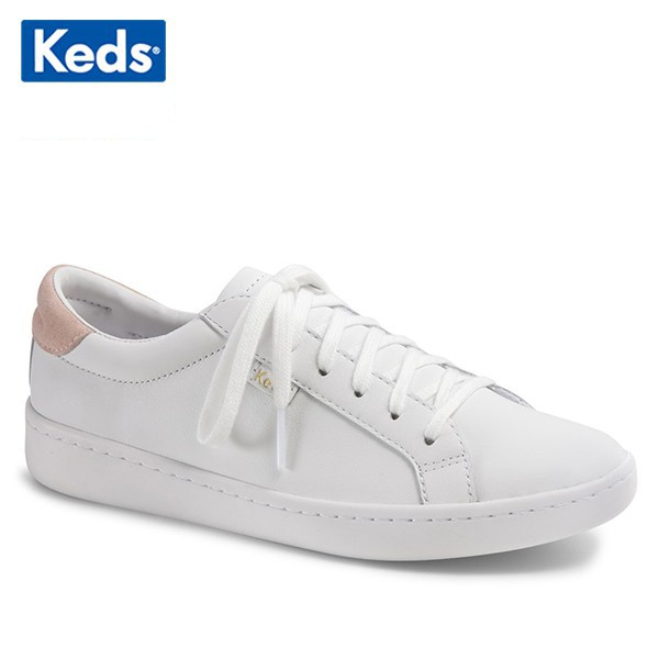 [WH57442] Giày Thể Thao Keds Nữ - Ace Leather White / Blush
