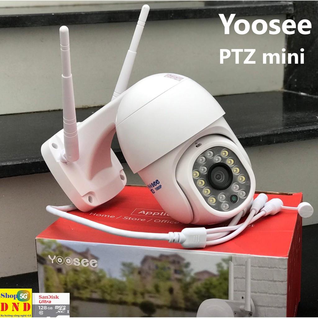 Camera PTZ IP Wifi ngoài trời 2.0Mpx FullHD-1080P Yoosee siêu mini 16 led