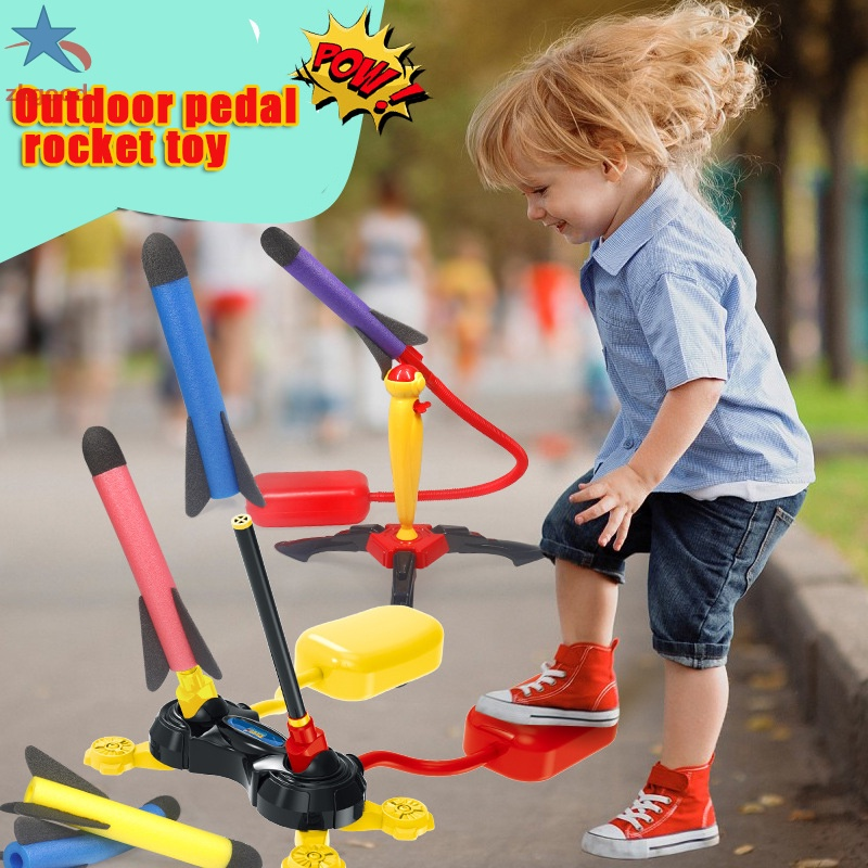 Toy Rocket for Kids Sturdy Stomp Launching Toys Fun Outdoor Toy for Kids Boys and Girls