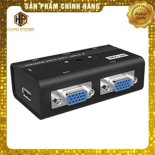 Bộ KVM switch USB MT-Viki MT-260KL 2 máy tính dùng chung 1 màn hình và phím chuột thumbnail