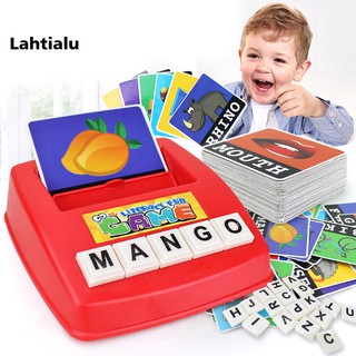 Lahtialu Children English Spelling Alphabet Game Early Learning Educational Toy Gift