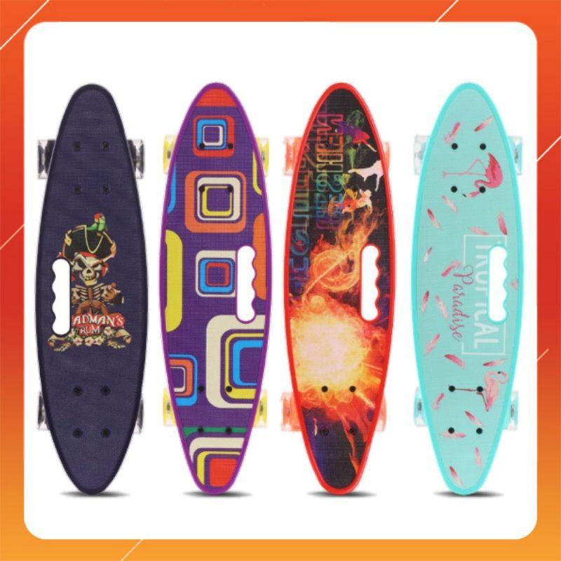 Ván Trượt Skateboard Penny 4 Bánh Đèn Led Có Tay Cầm Nhiều Màu Thỏa Mái Lựa Chọn