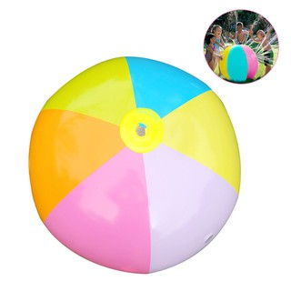 Inflatable PVC Water Spray Beach Ball for Outdoor Lawn Summer Game Children's Toy Ball Water Jet Ball