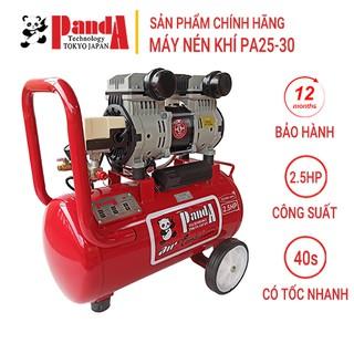 Máy nén khí gia tốc PANDA PA25-30, Máy chạy không dầu, Công suất 2.5HP, Bình 30L, Lên hơi siêu nhanh, Hàng chính hãng