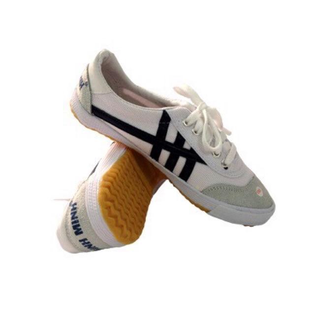 Giày vải bata trắng sọc xanh Bình Minh chính hiệu - chuyên dùng thể thao, lao động