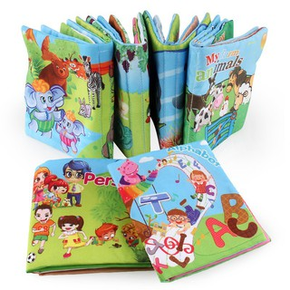 Baby Early Development Books Colorful Educational Unfolding Activity Book