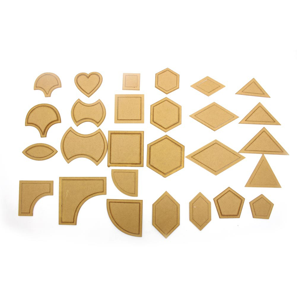 ♥superH♥Fantastic 54 Pcs Mixed Quilt Templates DIY Tools Acrylics For Quilting Supplies