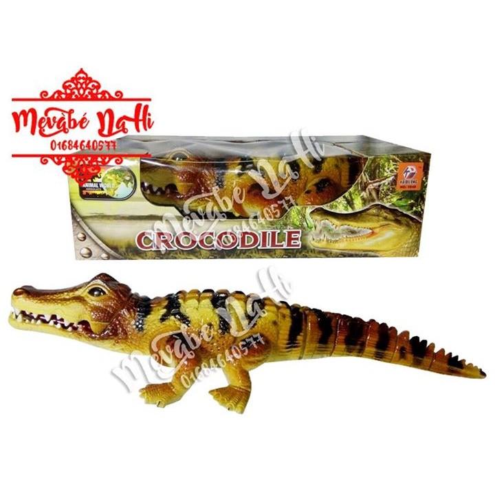 MIỄN PHÍ VẬN CHUYỂN - Cá sấu: Đi, đèn, âm thanh, miệng và đuổi cử động: Loại lớn (Không kèm pin)
