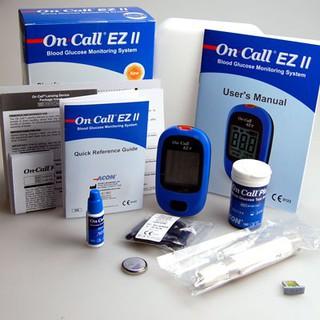 Máy đo đường huyết Acon On call EZ II (Xanh) tặng kèm 25 que thử