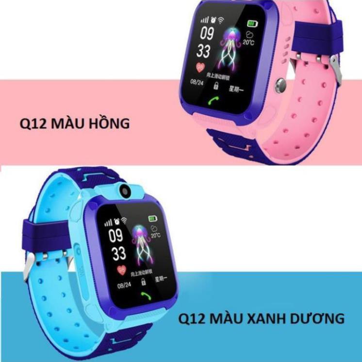 Đồng hồ thông minh định vị Q12 sạc nam châm, chống nước, gắn sim nghe gọi như điện thoại. toan store