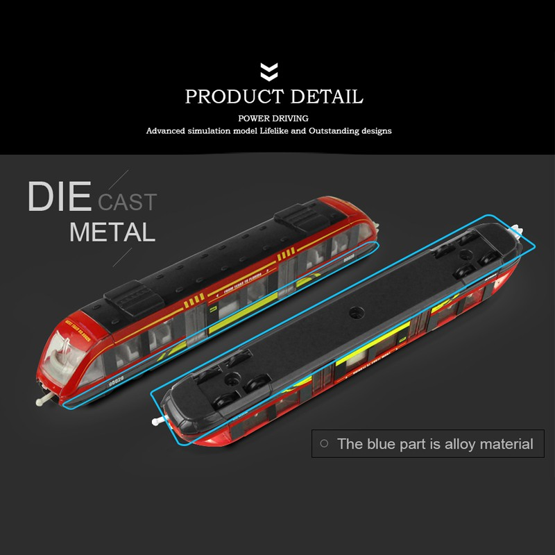 High-speed Rail Model Die Cast Alloy Car Toy Mini Car Subway Toys for Children