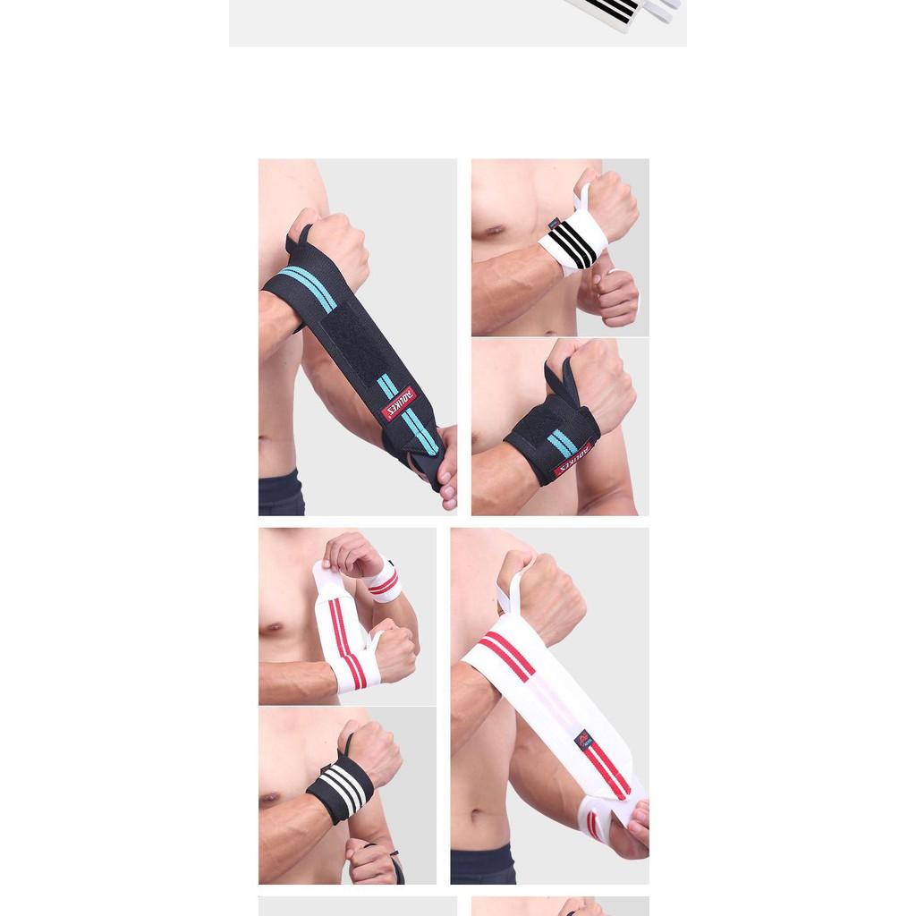 Dây quấn nịt cổ tay dụng cụ tập gym hỗ trợ Aolikes cao cấp AK19