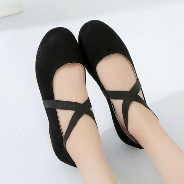 (Tặng Khẩu Trang)Giày bệt nàng thơ vintage