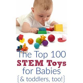 Bóng mềm tập cầm nắm, nhận biết màu sắc, hình dạng cho bé (Top 100 education toys for STERM learning)