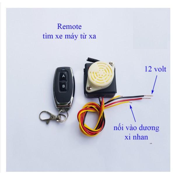 Chìa khóa báo vị trí để xe máy và chống mất trộm (Hú lên và sáng xi nhan)