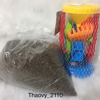 Combo đồ chơi xúc cát hạt muồng