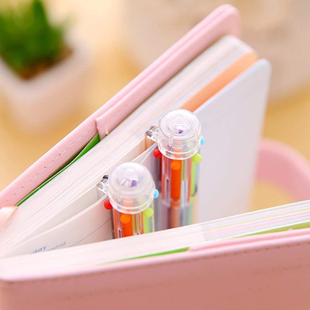 Bút bi nhiều màu thiết kế 6 trong 1 hoặc 8 trong 1 ngòi 0.5mm tiện dụng 8