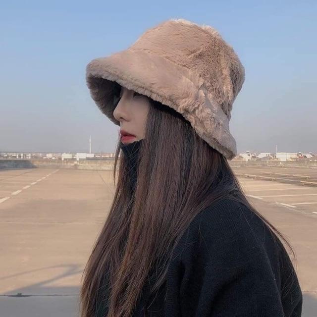 Mũ lông xinh + 2% phí shoppe
