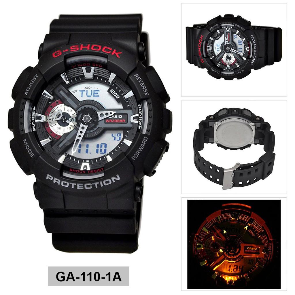 Đồng hồ nam dây nhựa G-SHOCK Casio chính hãng Anh Khuê GA-110-1ADR