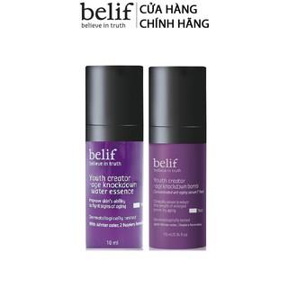 [HB Gift Phiên bản trải nghiệm] Nước dưỡng và Serum chống lão hóa belif Age Knockdown Water Essence và Serum Gimmick