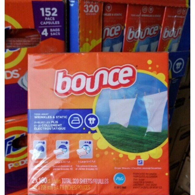 Giấy Thơm Bounce 4 In 1 Outdoor Fresh (160 tờ)