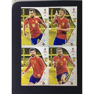 Set 9 thẻ cầu thủ/thẻ bóng đá Spain (Tây Ban Nha) Panini World Cup 2018 Adrenalyn XL