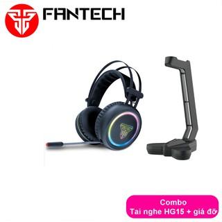 Combo FANTECH RGB Audio Tai Nghe 7.1 HG15 + Giá Đỡ AC3001 Đen Đỏ Ghi xám - CBO HG15 AC3001 thumbnail