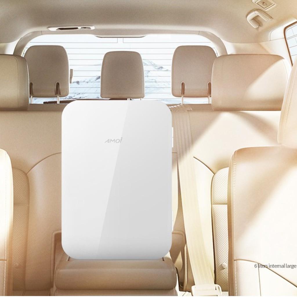 Tủ lạnh mini cao cấp chuyên dùng cho ô tô, xe hơi, gia đình thương hiệu Amoi 8L -dc4543