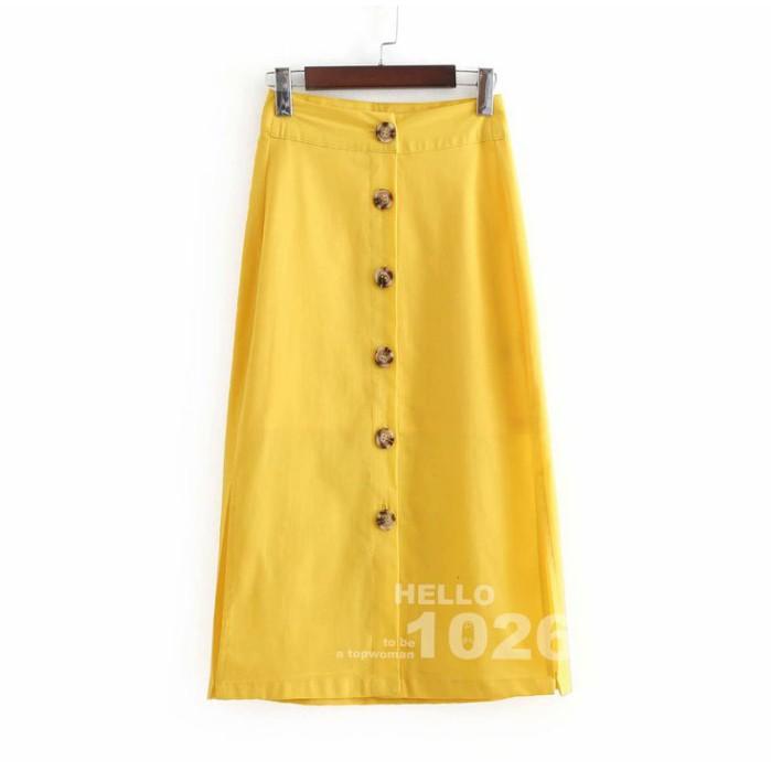 chân váy dài ngang gối thời trang âu mỹ