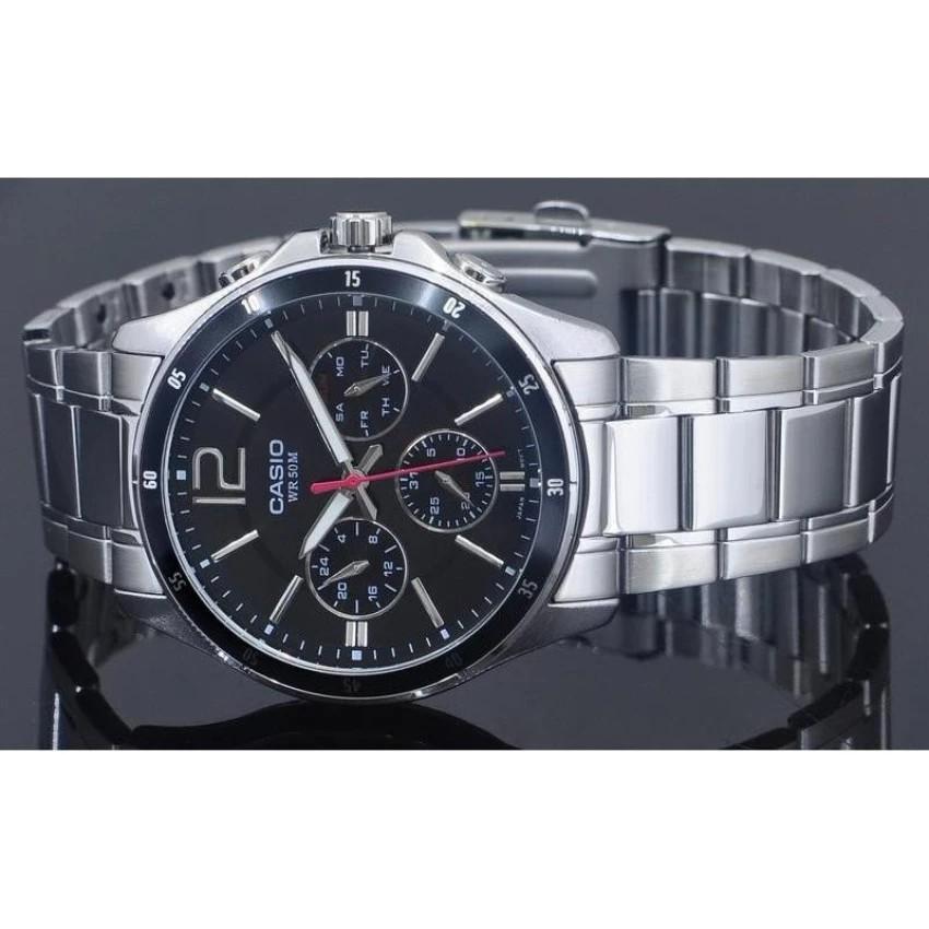 Đồng hồ nam dây kim loại Casio chính hãng Anh Khuê MTP-1374D-1AVDF