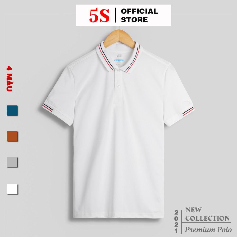 [MUA 2 POLO TẶNG 1] Áo Phông Nam Có Cổ 5S (4 màu), Chất Liệu Coolmax Siêu Mát, Co Giãn Tốt (APC21013-02)