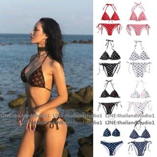 thailandstudio 2020 bikini set 6 styles 2 piece bikini brown Halterneck Strap Low-Waisted Áo bơi Đồ bơi