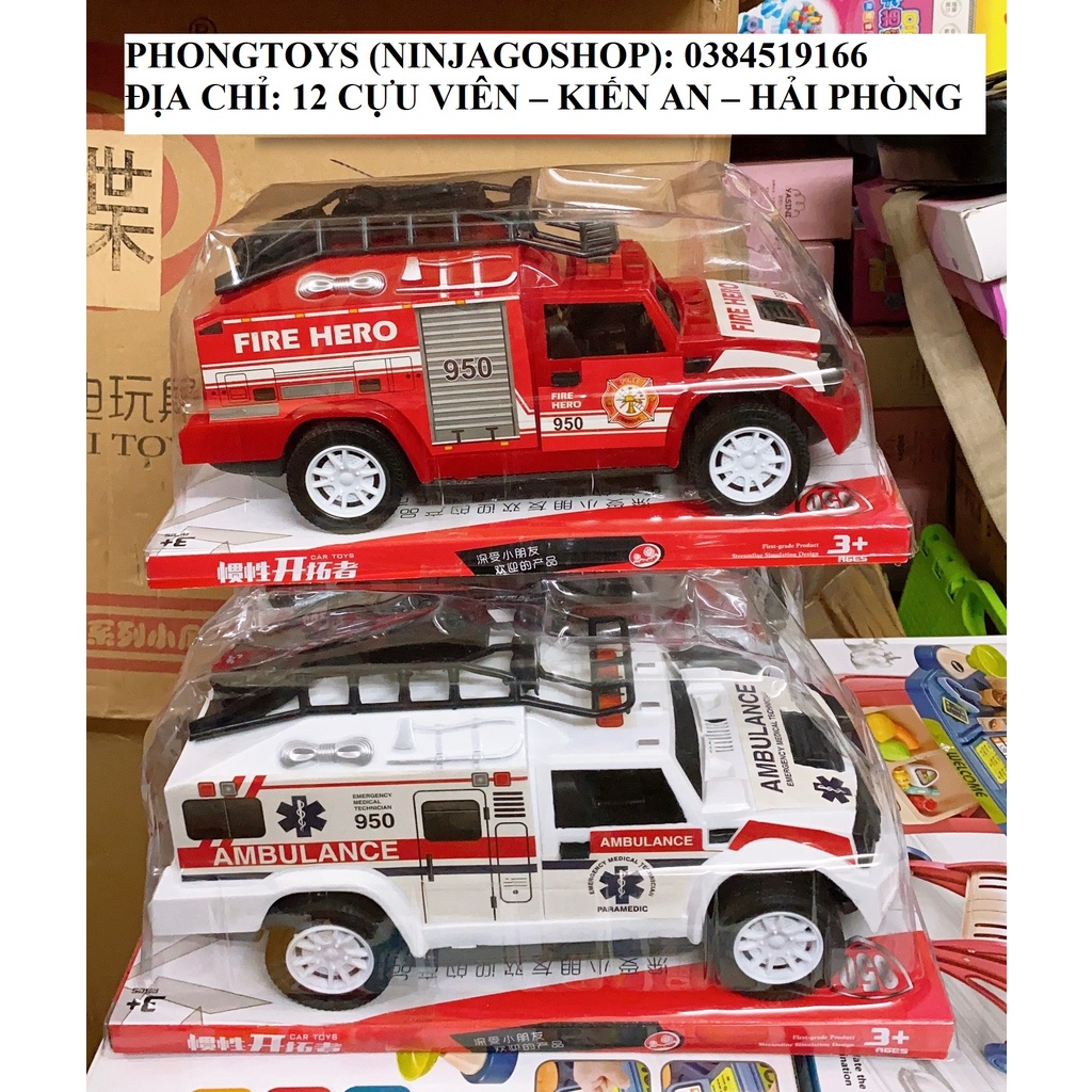 Xe cứu hỏa và xe cứu thương chạy tự dộng dùng pin